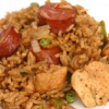 Jumbo-laya (a combination of Creole and Cajun Jambalaya)